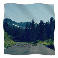 Go Explore the World by Robin Dickinson Fleece Blanket