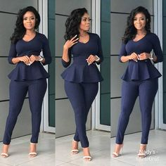 African fashion that looks stunning Corporate Attire, Business Casual Attire, Business Outfits, Business Chic, Casual Office Wear, Classy Work Outfits, Office Outfits, Chic Outfits, Fashion Outfits