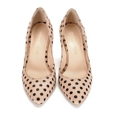 pony hair polka dot pump