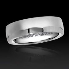 Proposition Love Jewelry's THROUGH THE YEARS BAND PL4025.  We proudly donate a portion of our profits to organizations that support Marriage Equality, Gay Rights and LGBT Youth.