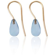 Love Is - Blue Topaz Earrings (6,815 PHP) ❤ liked on Polyvore featuring jewelry, earrings, blue topaz jewelry, blue topaz earrings and earring jewelry