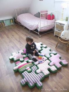 DIY Puzzle Cusion Pattern for Your Baby