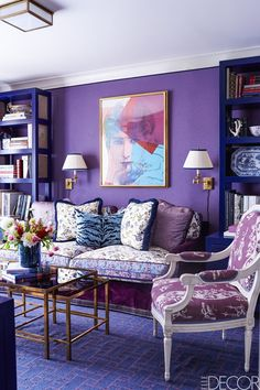 15 Rooms That Will Convince You Of The Power Of Purple - ELLEDecor.com