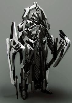 The Art/Tutorials of Anthony Jones Futuristic Armour, Futuristic Art, Robot Concept Art, Armor Concept, Character Concept, Character Art, Character Design, Anthony Jones, Arte Cyberpunk