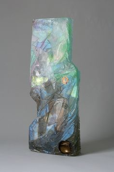 Amy Brener modern fossils resin sculptures.