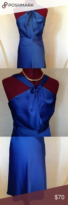 J.crew Sinclair dress Silk JCrew Sinclair dress in cobalt blue J. Crew Dresses