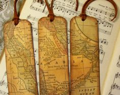 Historical Map Bookmarks Set of 3 Kingdom of Nejd and Hejaz Old World Map Saudi Arabia Bookmark Map Lovers' Gift Professors Historians