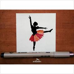 Dance is a way to find yourself and lose yourself, all at the same time. Mini Art : Ballet dance, pencil shavings #theartender