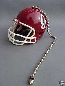 Light And Fan Pulls | Light Fan Pull Chain Oklahoma Sooners Football Helmet | eBay