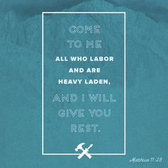 Father, in Jesus' name, help us to remember that we can come to You when we need rest, amen.