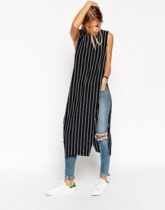 Shop for women's tops from ASOS. Shop for shirts, blouses, camisoles and going out tops, in trendy styles - sleeveless, sheer and mesh. Mode Outfits, Chic Outfits, Hijab Fashion, Fashion Dresses, Latest Fashion For Women, Womens Fashion, Fashion Online, Kurti Designs Party Wear, Stylish Dresses