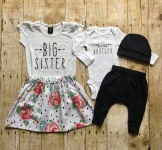 8d40b9bd7 Big sister little brother sibling set, sibling shirts, pregnancy  announcement shirt, baby announcement shirt