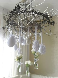 Gorgeous Easter chandelier