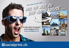 Welche deiner #socialpics gehören auf ein #poster? #print jetzt deine schönsten Momente mit @socialprint.ch!  #memories #erinnerungen #instapics #fotooftheday #picoftheday #instaprints #collage #fotogeschenk #wandschmuck #foto #fotodruck #fotoprint #socialprint #socialmedia #printyoursociallife Poster Print, Wayfarer, Ray Bans, Mens Sunglasses, Collage, Instagram, Life, Style, Photos