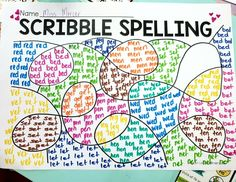 This spelling activity was a hit with my kiddies this week 🙌. They were super silent, focussed and I have been asked and asked if we can do it again. In each part of the scribble, the s Spelling Activities, Sight Word Activities, Teaching Activities, Teaching Reading, Classroom Activities, Vocabulary Games, Vocabulary Strategies, Listening Activities, Literacy Games