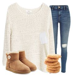 """Just Baked Snickerdoodles"" by classychic03 ❤ liked on Polyvore featuring MANGO, Crate and Barrel and UGG Australia"