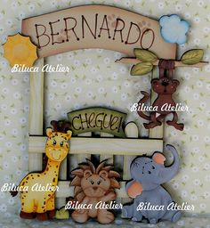 PLACA DE MATERNIDADE SAFARI by BILUCA ATELIER - RECORTES DE MDF, via Flickr
