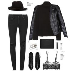 A fashion look from December 2014 featuring Isabel Marant sweaters, rag & bone jeans and Kiki de Montparnasse bras. Browse and shop related looks.