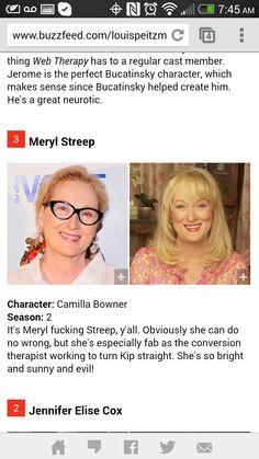 It's Meryl fucking Streep y'all! #webtherapy