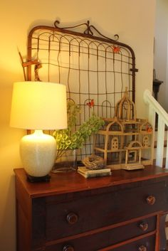 Old Rusty Gate – daisymaebelle - Basteln Organisation Hanging Christmas Cards, Christmas Ideas, Wooden Gates, Handmade Design, Cottage Style, Home Organization, Upholstery, Shabby Chic, Indoor
