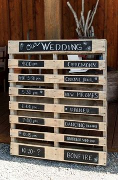 PA Farm & Barn Wedding - Rustic Wedding Chic This DIY rustic sign is so much fun for your outdoor wedding. Pallet Wedding, Rustic Wedding Signs, Farm Wedding, Chic Wedding, Perfect Wedding, Dream Wedding, Wedding Day, Wedding Ceremony, Wedding Receptions