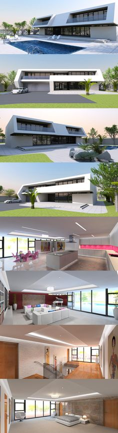 Contemporary house plan designs for the self-builder. We offer totally unique and inspiring modern designs for stunning new contemporary residences, to give your dream home the best possible start. Home Design Plans, Plan Design, Attached Garage, Contemporary House Plans, Reinforced Concrete, Balconies, Steel Frame, How To Look Better, Modern Design