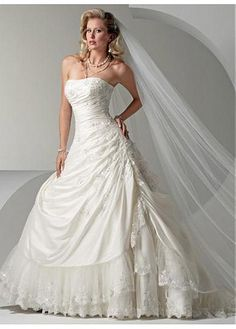 LACE BRIDESMAID PARTY BALL EVENING COCKTAIL GOWN IVORY WHITE FORMAL PROM ELEGANT STRAPLESS TAFFETA WEDDING DRESS