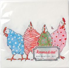 Krima & Isa - Servietten Hühner bei www.party-princess.de