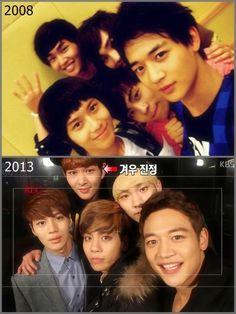 SHINee 2008 and 2013