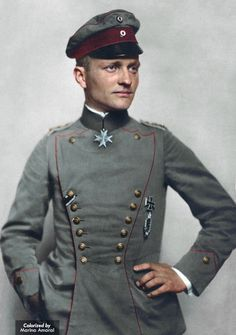 Manfred von Richthofen: The Red Baron - Top Ace of WWI, 80 victories. | Manfred von Richthofen (1892-1918) earned widespread fame as a World War I ace fighter pilot. After starting the war as a German cavalry officer on the Eastern Front, Richthofen served in the infantry before seeking his pilot's license. He transferred to the Imperial Air Service in 1915, and the following year began to distinguish himself in battle. The leader of a squadron known as the Flying ...