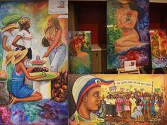 Works of art Haitian artists affiliated with  mouvement « Kalfou Richès » (Atelier Folie Ouverte, Atelier Sixième sens et Atelier l'Aurore),