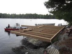 The Boathouse: a new definition to lakefront living! Lake Dock, Boat Dock, Docks Lake, Cottage Plan, Cottage Style, Floating Dock, Lakefront Property, Camping Life, Rustic Design