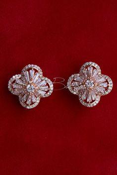 CZ Art Deco Rose Gold Cubic Zirconia Earrings Rose Gold Theme 4311d2f2e9