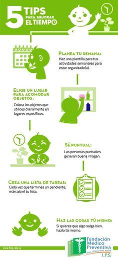 5 #tips para mejorar el tiempo. #CuidaTuSaludYa