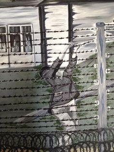 Israeli Druze  artist's paintings holocaust Butania Halabi from Daliat El Carmel Israel