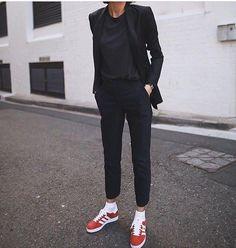Tee trousers sneakers