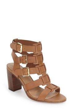 Free shipping and returns on Steve Madden 'Ninna' Cage Block Heel Sandal (Women) at Nordstrom.com. Laddered buckle straps create a striking caged effect for a rich leather sandal featuring a rounded block heel and open-toe, open-back silhouette.