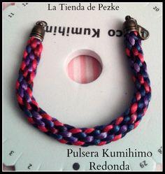 Pulsera Kumihimo redonda. www.latiendadepezk.blogspot.com.es