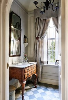 South Shore Decorating Blog: Weekend Roomspiration, very elegant with the beautiful windows & treatment