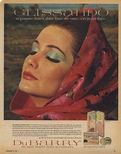 Glissando cosmetics 1965. ADSAUSAGE - vintage advertising library.