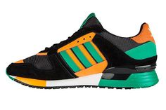 size 40 0efd6 2fd80 hombres Adidas ZX 630 D67740 Corriendo Zapatos Athletic Sneakers Originals  Trainers Negro naranja Verde