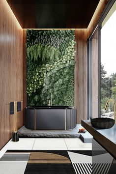 This intense design features some of the most unique ideas one can think of! Home Interior, Luxury Interior, Interior Decorating, Interior Design, Contemporary Bathrooms, Contemporary Design, Modern Bathroom, Zen Bathroom, Tropical Bathroom