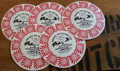 vintage milk caps   XL  old milk bottle tops  Rocky by thriftypyg