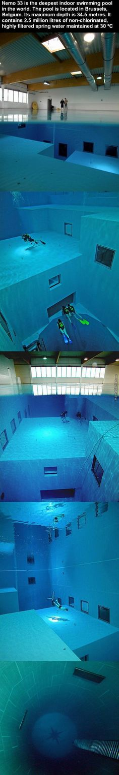 this is now the 2nd deepest pool in the world (replaced by the Y-40 pool in Italy)