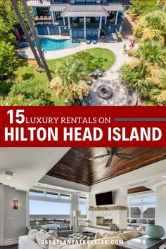 """If you're heading to the white sandy beaches of South Carolina on a family vacation, then check out these luxurious Hilton Head Rentals that include vacation home options. These are perfect luxe vacation home and villa rentals on Hilton Head Island,SC that the rich and famous rush toward (there is even a listing here that was a perfect vacation for a former President and his wife) … but if you bring the extended family or a few family friends, they can be affordable for even us """"regular folk."""" Top Family Vacations, Family Travel, South Carolina Vacation, Hilton Head Island, Sandy Beaches, Rental Apartments, Travel With Kids, Atlanta, The Incredibles"""