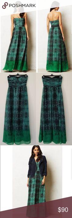 71b7cdea0d6f Anthropology Moulinette Soeurs Vernalis Maxi Dress Anthropologie Moulinette  Soeurs Vernalis Jade Green Snake Printed Maxi Dress