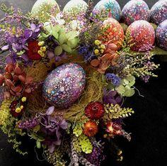 ~Spectacular Speckled Marbled Chicken Egg For Your Easter Basket~