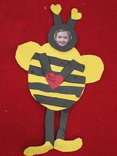 """Christina how cute would these """"bee"""" using our little sticker pictures. We could make them for our insect unit and open house."""