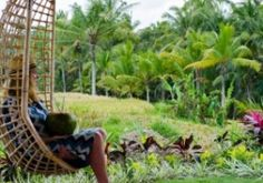 new gorgeous venue in the rice fields above #Ubud, #Bali...come unwind...