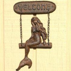 Mermaid Welcome Sign Rustic Brown Nautical Cast Iron Beach Plaque , http://www.amazon.com/dp/B0040QZ5VY/ref=cm_sw_r_pi_dp_KagDrb1QG7T3W